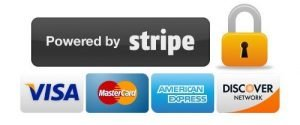 Powered by Stripe. Secured payment. Visa Mastercard American Express